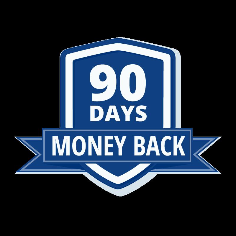 90-days-money back guarantee